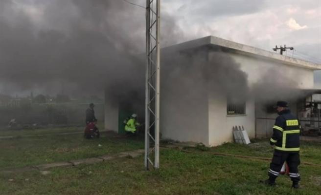 Geçitkale Trafo Merkezi'ne Düşen Yıldırım 28 Köyü Elektriksiz Bıraktı
