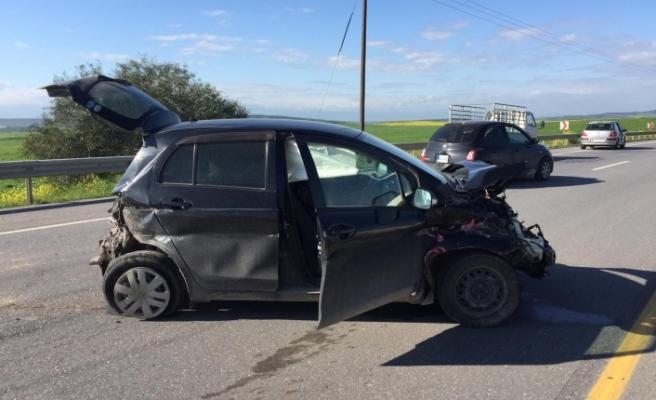 Lefkoşa-Güzelyurt yolunda korkutan kaza