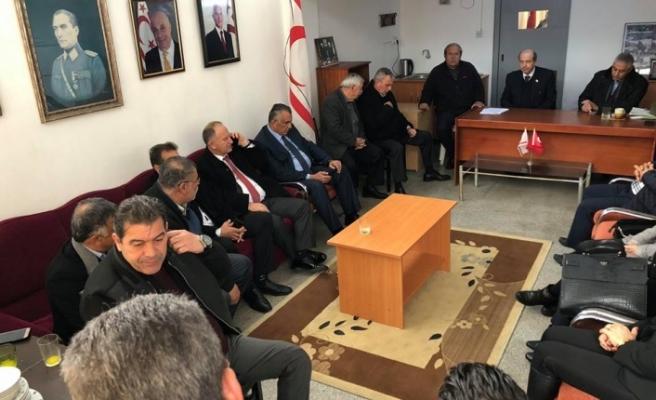 UBP Lideri Ersin Tatar, Güzelyurt'ta Temaslarda Bulundu