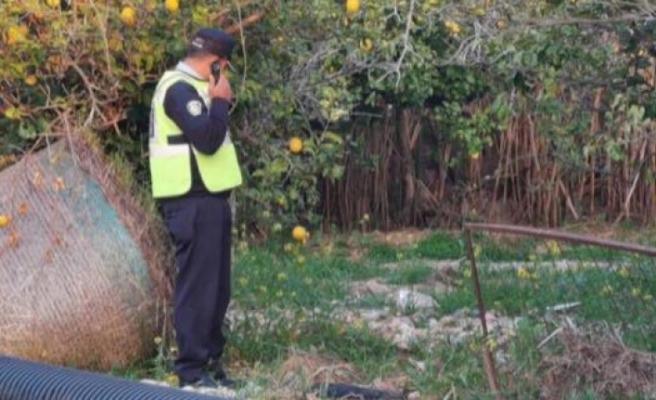 Dikmen'de Selvi Sokak üzerinde bulunan bir evin avlusunda bölge sakinleri tarafından oksitlenmiş bir tanksavar mayını bulundu