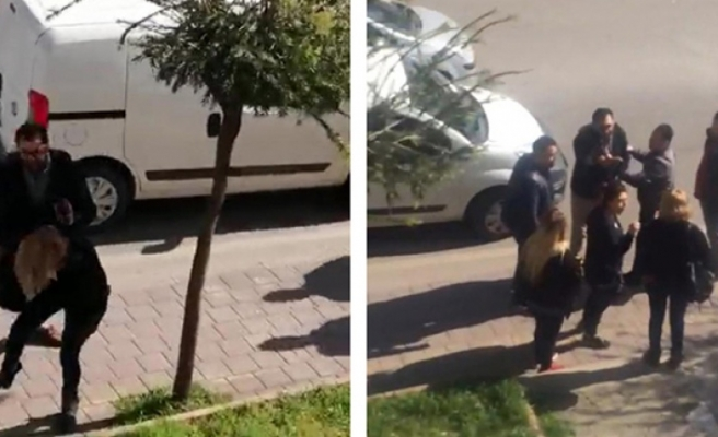 Kadın sürücüye biber gazıyla saldırdı