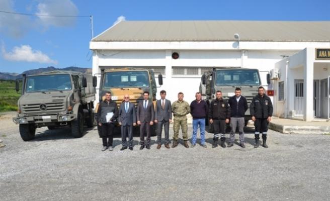 Sivil Savunma Teşkilatı Başkanlığına 3 Adet Unimog Araç Hibe Etti
