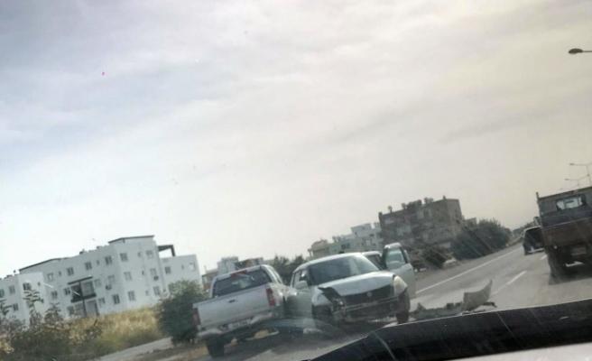 Lefkoşa - Güzelyurt yolunda korkutan kaza