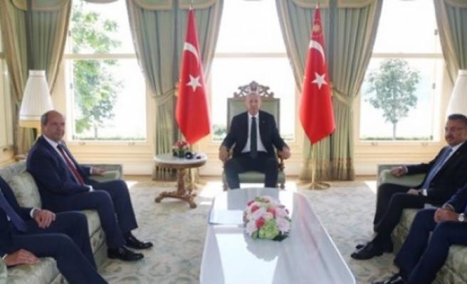 Tatar ve Özersay, Erdoğan'la görüşüyor