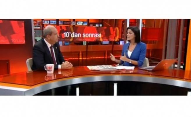 Başbakan Tatar CNN Türk'te konuştu: Bir anlaşma zemini göremiyorum