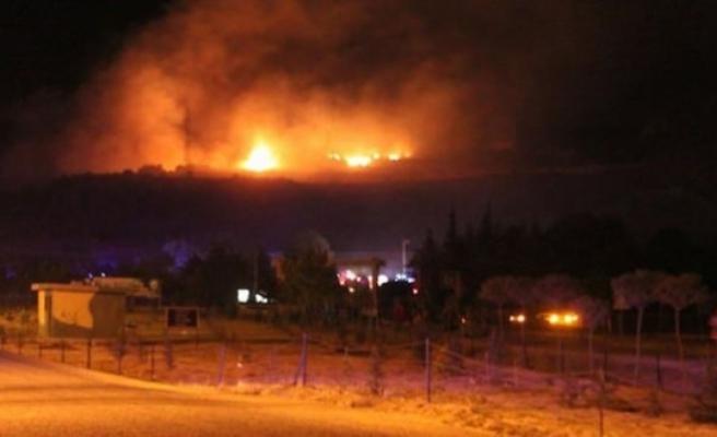 Arapköy'ün alt tarafında bulunan askeri mühimmatta yangın çıktı, çevre otel ve yerleşim birimleri boşaltıldı