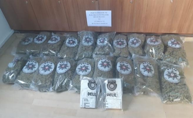 Mersin'den sonra Ercan'da rekor uyuşturucu madde yakalandı : Tam 22 KG