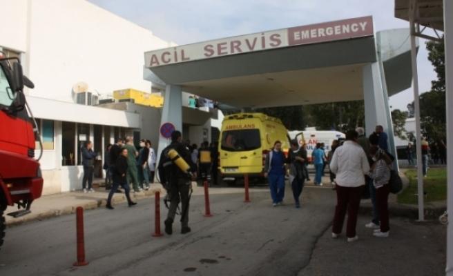 Lefkoşa Devlet Hastanesi'nden tahliye olanlar çeşitli hastanelerde tedavi olmaya başladı