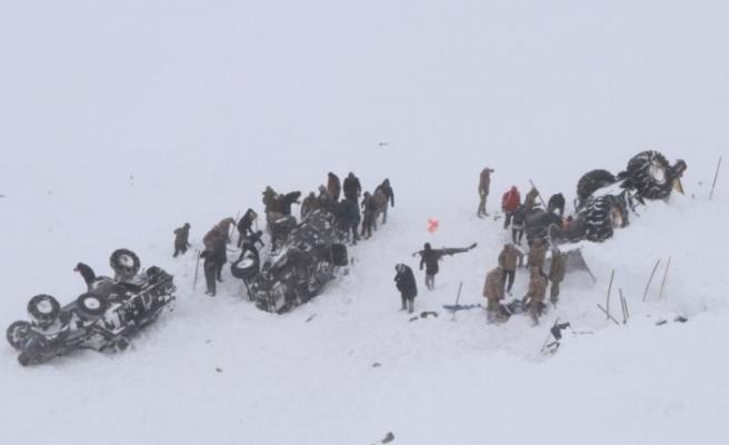 Van'da çığ altında kalanları arayan ekibin üstüne çığ düştü: Can kaybı 33