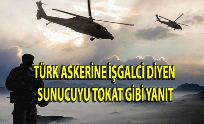 """Türkiye'nin varlığına """"işgal"""" diyen sunucuyu pişman etti"""
