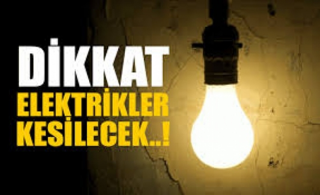Girne'nin bazı bölgelerine bugün elektrik verilmeycek