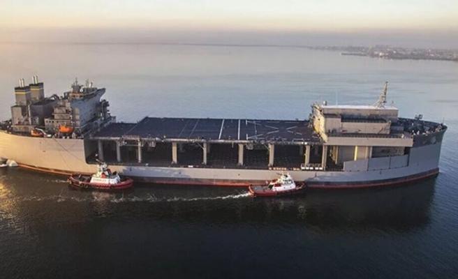 ABD'ye ait savaş gemisi Girit Adası'na ulaştı