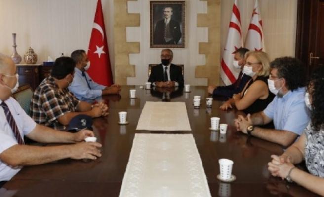Cumhurbaşkanı Akıncı YÖDAK heyetini kabul etti