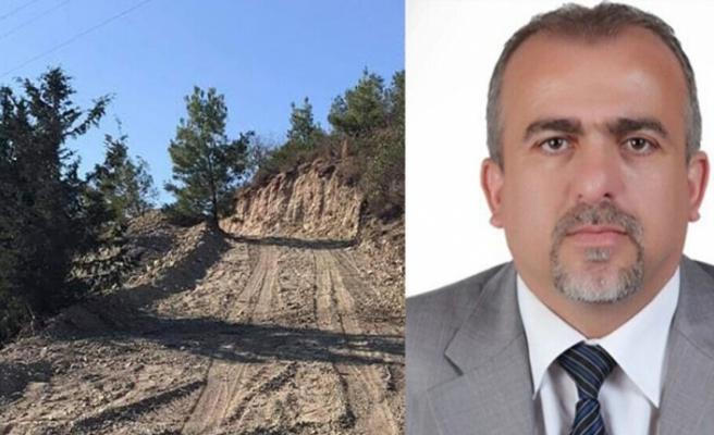 """Orman Dairesi Müdürü Karzaoğlu: """"Ağaç kesimi yok sadece yol çalışması"""""""