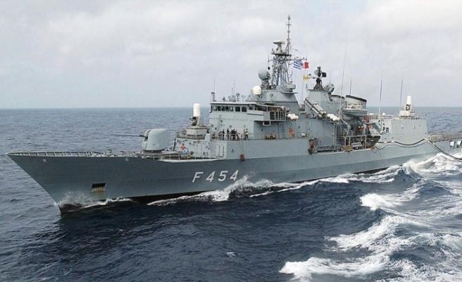 Türk savaş gemileri, 30 Ağustos'ta, Mağusa Limanı'nda