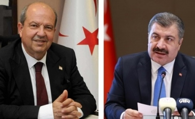 Başbakan Tatar, TC  Sağlık Bakanı Koca ile projeleri ve işbirliği konularını ele aldı