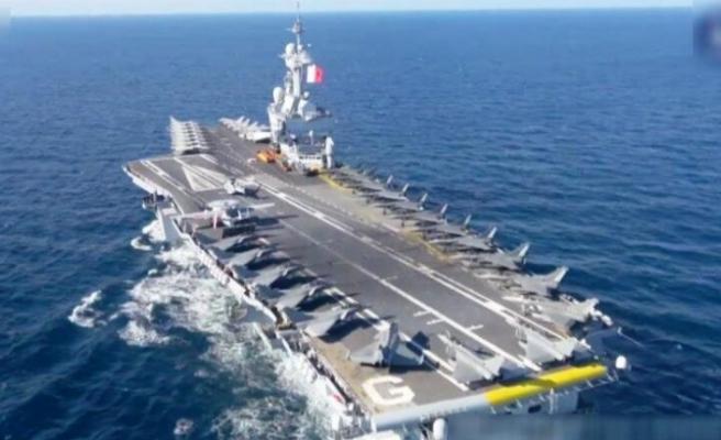 Charles De Gaulle uçak gemisi Doğu Akdeniz'e doğru yola çıktı