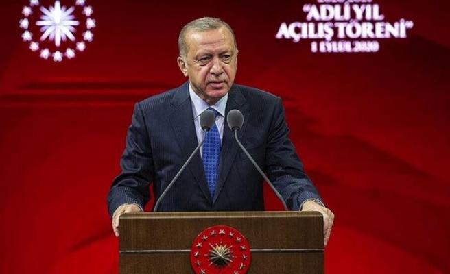 """Erdoğan: """"Doğu Akdeniz'deki, Ege'deki faaliyetlerimizin özünde hak ve adalet arayışı vardır"""""""