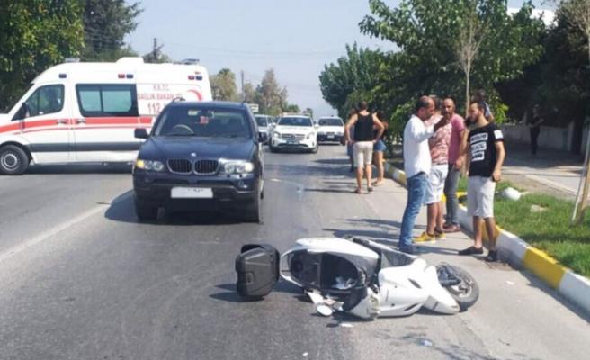 Girne'de kaza; 29 yaşındaki motosiklet sürücüsü ağır yaralandı
