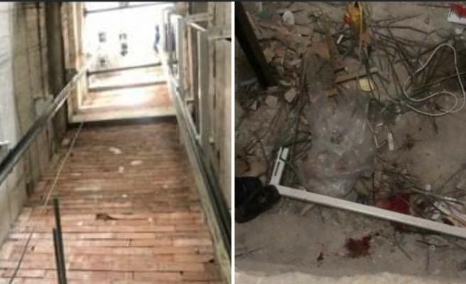 14 Metre yükseklikten asansör boşluğuna düşerek ağır yaralandı