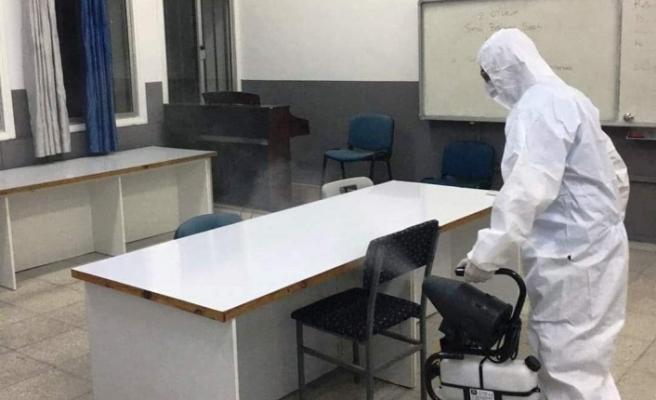 LTB Ekipleri seçimin ardından Lefkoşa'daki sandık merkezlerini dezenfekte etti