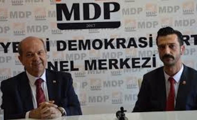 Tatar, Cumhurbaşkanlığı Seçimi İkinci Tur Ziyaretleri Çerçevesinde  MDP'yi Ziyaret Etti
