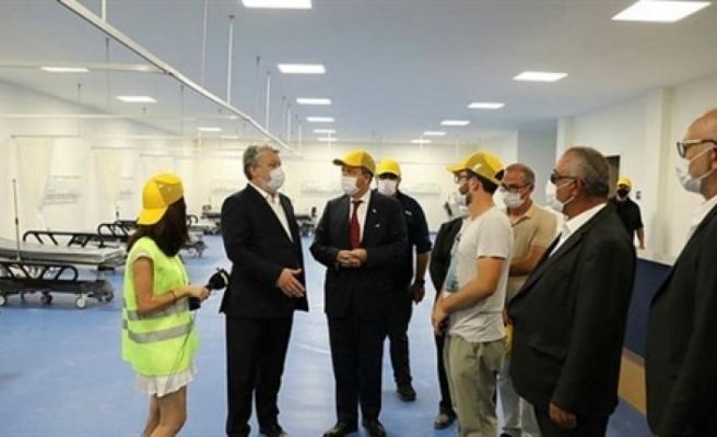 Tatar, inşaatı devam eden Acil Durum Hastanesinde incelemelerde bulundu