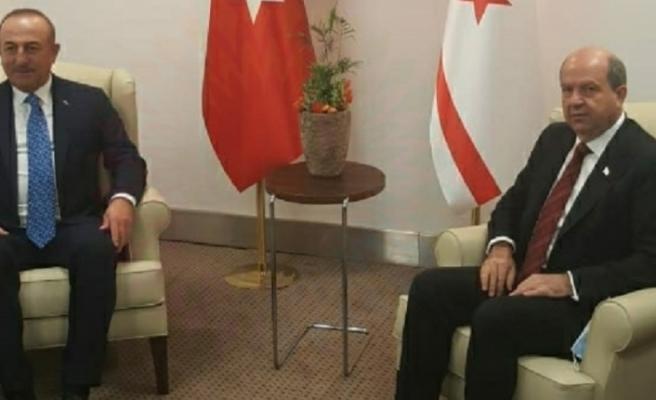 Tatar, TC Dışişleri Bakanı Mevlüt Çavuşoğlu ile görüştü