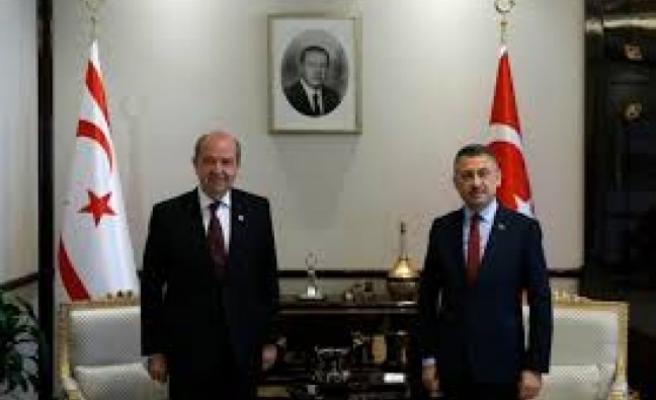TC Cumhurbaşkanı Yardımcısı Oktay, Tatar'ın Yemin Yöreni için Yarın KKTC'ye Geliyor