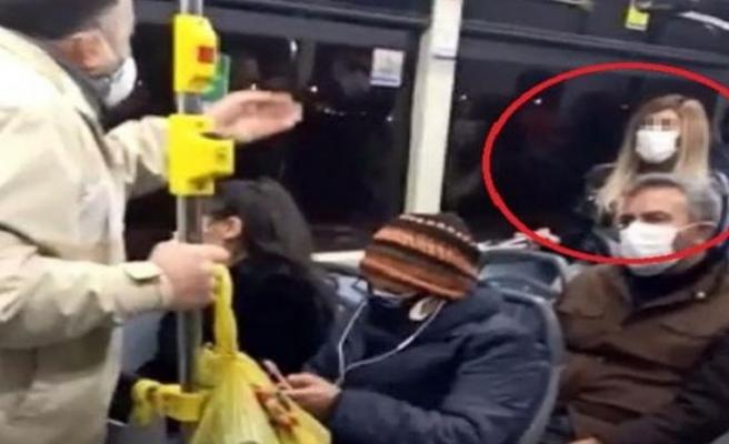 Corona virüs hastası olduğunu otobüste söyleyince tartışma çıktı