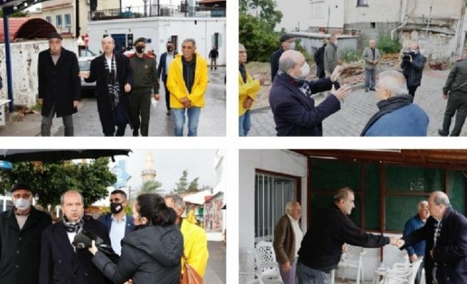 Cumhurbaşkanı Tatar, doğal afetten etkilenen Ozanköy'de incelemelerde bulundu