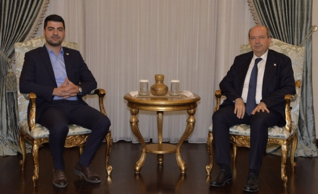 Cumhurbaşkanı Tatar, Halkın Partisi Genel Başkanı Senin'i kabul etti