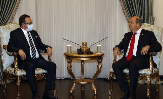 Cumhurbaşkanı Tatar, KTTO Yönetim Kurulu heyetini kabul etti