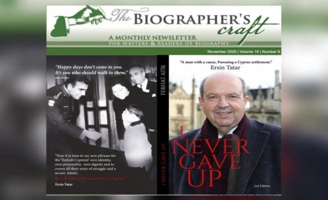 Ersin Tatar'ın biyografisinin yer aldığı 'Hiç Vazgeçmedim' adlı kitap dünya literatürüne kabul edildi