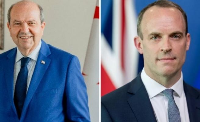 İngiltere Dışişleri Bakanı Raab Cumhurbaşkanı Tatar'a kutladı