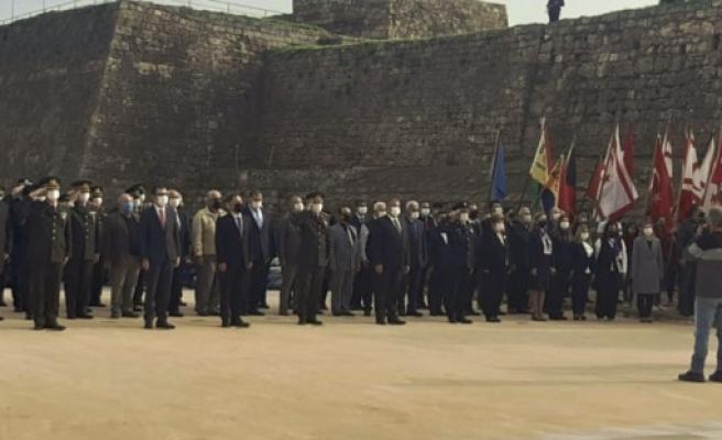 21-25 Aralık Milli Mücadele ve Şehitler Haftası dolayısıyla Gazimağusa'da da Anma Töreni gerçekleştirildi