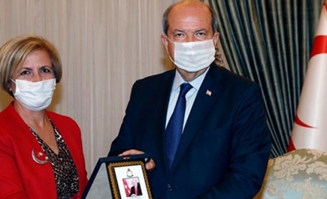 Cumhurbaşkanı Tatar, Mağusa Mesarya Lions Kulübü'nü kabul etti
