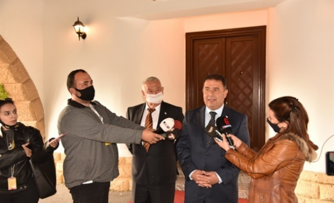 Cumhurbaşkanı  Tatar, UBP Genel Başkan Vekili Saner'i Kabul Etti