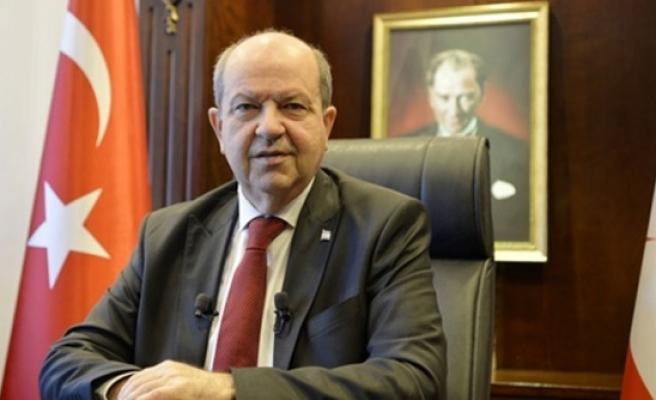 Cumhurbaşkanı Tatar'dan yeni yıl mesajı:Kıbrıs'ta yan yana yaşayan iki egemen devlet en büyük temennimiz