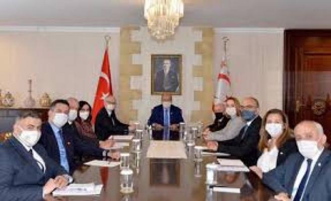 Cumhurbaşkanlığında 'Kıbrıs' konulu toplantı