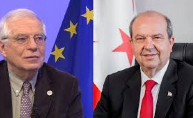 Ersin Tatar, Josep Borrell'le görüştü: 'Egemen eşitlik temelinde iki devlet arasında iş birliği ilişkisi kurulabilir'