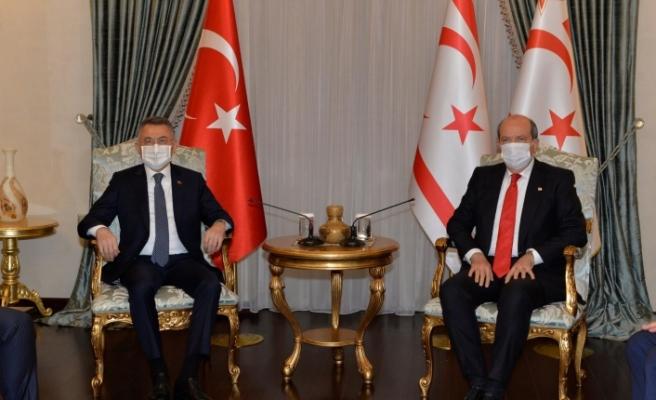 Cumhurbaşkanı Ersin Tatar, Fuat Oktay'ı kabul etti