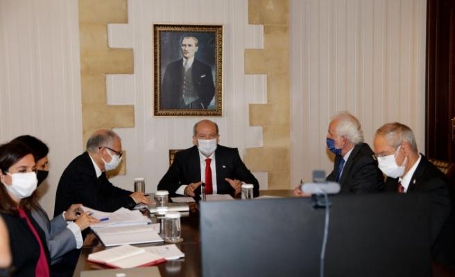Cumhurbaşkanı Ersin Tatar Mario Nava ile video konferans yoluyla bir görüşme gerçekleştirdi
