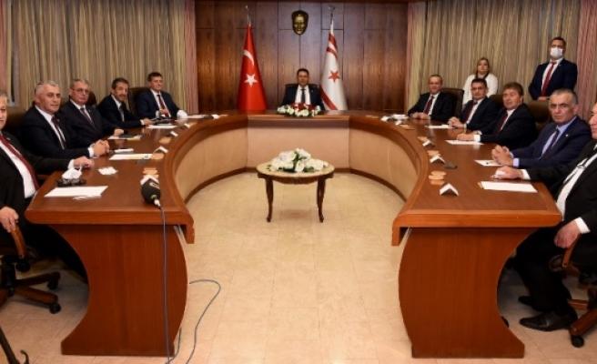 Değerlendirme toplantısı sona erdi.Başbakan Saner, toplantının ardından açıklama yapacak