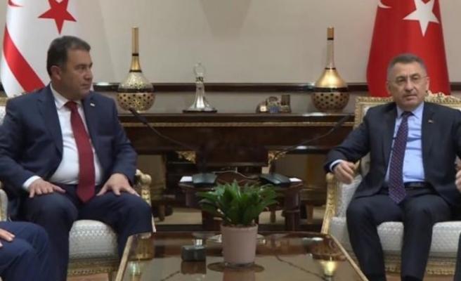 Ersan Saner, Fuat Oktay'ı kabul etti