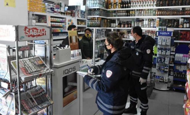 Girne'de 554 iş yeri denetlendi, 1 iş yeri kapatıldı