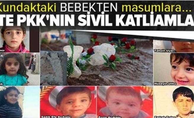 İşte PKK'nın sivil katliamları! Kundaktaki bebekten masumlara....