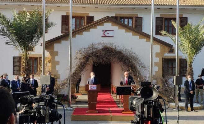 """TC Cumhurbaşkanı Yardımcısı  Fuat Oktay  : """" İki devletli çözümden başka Kıbrıs'ta çıkış yolu yoktur, bu konuda netiz  """""""