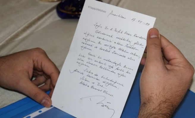 Türkiye Cumhurbaşkanı Erdoğan'ın gönderdiği mektup 22 yıl sonra ortaya çıktı