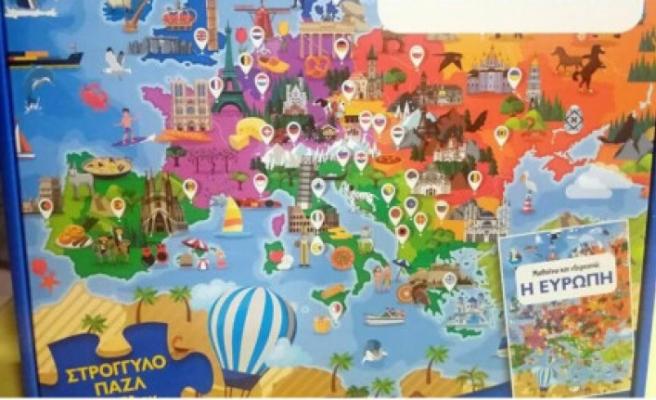 """Yunanistan'da """"Kıbrıs'ın kuzeyinin Türkiye'ye ait olduğunu"""" iddia eden çocuk oyun kitabı piyasadan geri çekildi"""